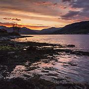 Last light, Holy Loch, Ardnadam, Argyll & Bute, Scotland.