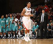 Virginia beat UNC Wilmington 69-67 Monday Jan. 18, 2010 in Charlottesville, Va. Virginia guard Jontel Evans (1) (Photo/The Daily Progress/Andrew Shurtleff)