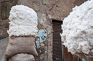 Bales of cotton in Islamic Cairo, Egypt. (March 21, 2010)