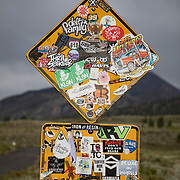 A sign off Sherwin Creek Road on the way to campgrounds in Mammoth.