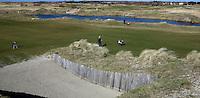 TEXEL - De Cocksdorp - hole 18 met grote bunker  .  Golfbaan De Texelse. COPYRIGHT KOEN SUYK