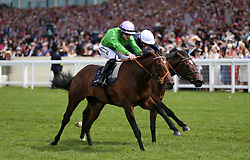 Arthur Kitt ridden by Jockey Richard Kingscote (left) on their way to win the Chesham Stakes during day five of Royal Ascot at Ascot Racecourse.
