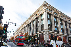 © Licensed to London News Pictures. 13/11/2018. London, UK. General view of the Selfridges store in central London where a group of people used a car in a smash and grab robbery. Photo credit: Rob Pinney/LNP