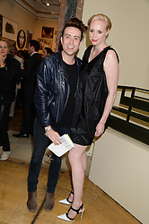 GWENDOLINE CHRISTIE and NICK GRIMSHAW at the preview party for The Royal Academy Of Arts Summer Exhibition 2013 at Royal Academy of Arts, London on 5th June 2013.