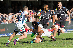 DURBAN, SOUTH AFRICA - MAY 19: Lukhanyo Am of the Cell C Sharks on attack during the Super Rugby match between Cell C Sharks and Chiefs at Jonsson Kings Park on May 19, 2018 in Durban, South Africa. Picture Leon Lestrade/African News Agency/ANA