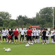Turkish Soccer Club Besiktas's players during their at this season's training session in Holland 06 August 2011. Photo by TURKPIX
