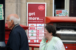 © Licensed to London News Pictures. 30/09/2013<br /> Orpington Post Office in Orpington High Street,Greater London.<br /> Post Office Strikes Today (30.09.2013)<br /> Long delays and queuing for customers today at Branches of the Post Office across the UK  due to industrial action being taken by the Communication Workers Union.<br /> Photo credit :Grant Falvey/LNP