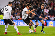 England (9) Jamie Vardy, Germany (5) Hummels during the Friendly match between England and Germany at Wembley Stadium, London, England on 10 November 2017. Photo by Sebastian Frej.