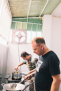 David Thompson and Andy Ricker cooking, Chiang Mai