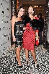 Left to right, ELLA KRASNER and ANDREA DELLAL at the Liberatum Dinner hosted by Ella Krasner and Pablo Ganguli in honour of Sir V S Naipaul at The Landau at The Langham, Portland Place, London on 23rd November 2010.
