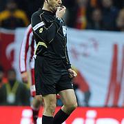 Referee's Bulent Yildirim during their Turkish Superleague soccer match Galatasaray between Sivasspor at the Turk Telekom Arena at Aslantepe in Istanbul Turkey on Saturday 26 November 2011. Photo by TURKPIX