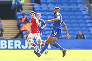 Cardiff City defender Curtis Nelson (16) in action during the EFL Sky Bet Championship match between Cardiff City and Bristol City at the Cardiff City Stadium, Cardiff, Wales on 28 August 2021.