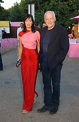 Musician DAVID GILMOUR and his wife POLLY SAMPSON at the Serpentine Gallery Summer party sponsored by Yves Saint Laurent held at the Serpentine Gallery, Kensington Gardens, London W2 on 11th July 2006.<br /><br />NON EXCLUSIVE - WORLD RIGHTS
