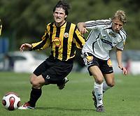 Fotball / Football<br /> La Manga Cup 2007 - Spain<br /> 23.02.2007<br /> Rosenborg v KR Reykjavik Island 1-0<br /> Foto: Morten Olsen, Digitalsport<br /> <br /> Per Ciljan Skjelbred - RBK<br /> Petur Marteinsson - KR