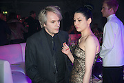 NICK RHODES; NEFER SUVIO, Gabrielle's Gala 2013 in aid of  Gabrielle's Angels Foundation UK , Battersea Power station. London. 2 May 2013.