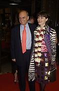 Mrs and Mrs. Nicholas Coleridge. Bollywood party. Selfridges. 2 May 2002. © Copyright Photograph by Dafydd Jones 66 Stockwell Park Rd. London SW9 0DA Tel 020 7733 0108 www.dafjones.com