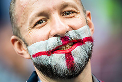 July 11, 2018 - Moscow, Russia - 180711 A fan of England prior to the FIFA World Cup semi final match between Croatia and England on July 11, 2018 in Moscow..Photo: Petter Arvidson / BILDBYRÃ…N / kod PA / 92085 (Credit Image: © Petter Arvidson/Bildbyran via ZUMA Press)