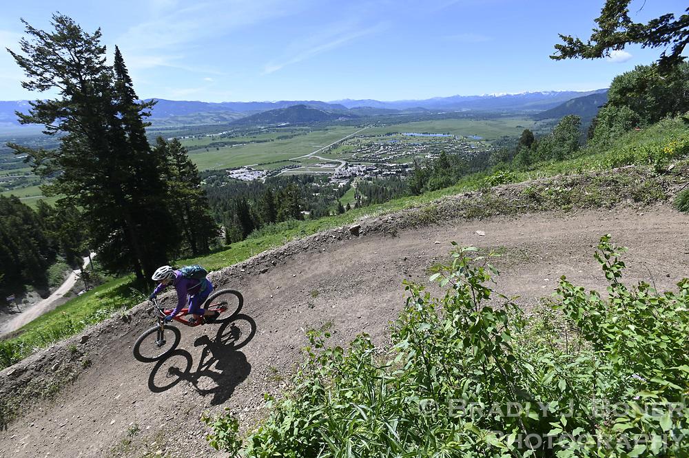 New Solitoga downhill bike trail at Jackson Hole Mountain Resort