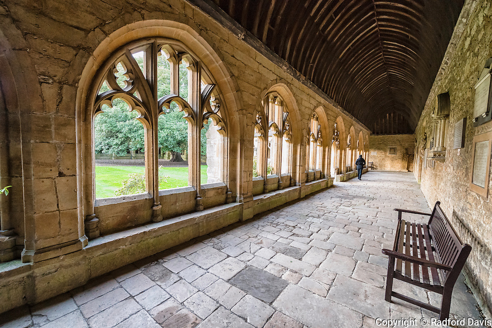 Outer corridors and courtyard, University of Oxford, England