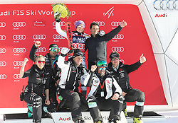 27.01.2018, Lenzerheide, SUI, FIS Weltcup Ski Alpin, Lenzerheide, Riesenslalom, Damen, Flower Zeremonie, im Bild Viktoria Rebensburg (GER) Teamfoto // Viktoria Rebensburg of Germany during the Flowers ceremony for the ladie's Giant Slalom of FIS Ski Alpine World Cup in Lenzerheide, Austria on 2018/01/27. EXPA Pictures © 2018, PhotoCredit: EXPA/ Sammy Minkoff<br /> <br /> *****ATTENTION - OUT of GER*****