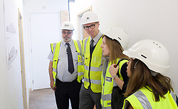 Tulip Siddiq visits NHBC<br /> site in West Hampstead. <br /> 20th April 2015 <br /> <br /> Labour Prospective Parliamentary candidate for Hampstead and Kilburn in 2015 General Election campaign. <br /> <br /> Tulip Siddiq site visit in West Hampstead Square, West Hampstead, London, Great Britain <br /> <br /> Photograph by Elliott Franks <br /> Image licensed to Elliott Franks Photography Services