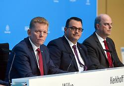 Germany, Essen - November 21, 2018.Thyssenkrupp yearly balance news conference .From left Guido Kerkhoff, Oliver Burkhard and Donatus Kaufmann (Credit Image: © Sepp Spiegl/Ropi via ZUMA Press)