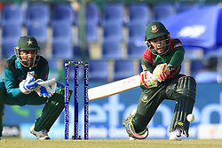September 26, 2018 - Abu Dhabi, United Arab Emirates - Bangladesh cricketer Mushfiqur Rahim plays a shot during the Asia Cup 2018 cricket match  between Bangladesh and Pakistan at the Sheikh Zayed Stadium,Abu Dhabi, United Arab Emirates on September 26, 2018  (Credit Image: © Tharaka Basnayaka/NurPhoto/ZUMA Press)