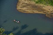 Rupununi River & dugout canoe<br /> Savanna <br /> Rupununi<br /> GUYANA<br /> South America
