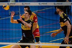 Frits van Gestel of Dynamo in action during the second final league match between Amysoft Lycurgus vs. Draisma Dynamo on April 24, 2021 in Groningen.