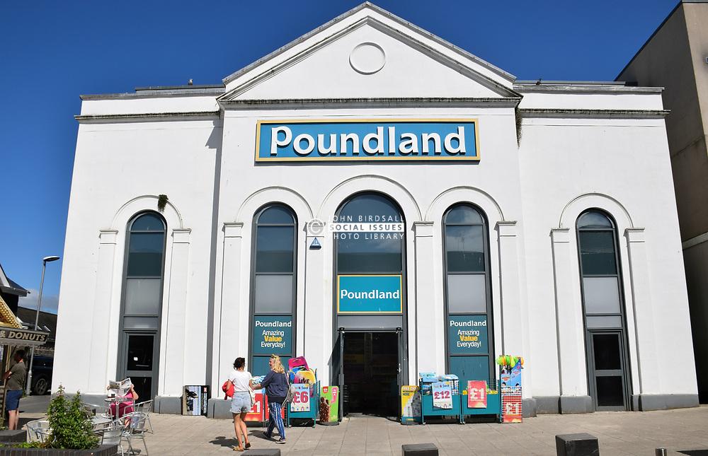 Poundland, Tenby, Pembrokeshire, South Wales 2021. Former Gatehouse cinema