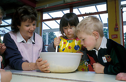 Cooking in preschool nursery, UK