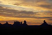 Sunrise, Monument Valley, Navajo Tribal Park, Utah-Arizona border