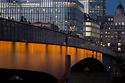 Looking northwards across London Bridge into the City of London - the capital's financial district (aka the Square Mile), on 2nd November 2018, in London, England.