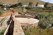 Historic traditional water wheel irrigation system, Betancuria, Fuerteventura, Canary Islands, Spain