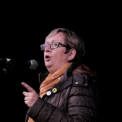 All Under One Banner March, Edinburgh, 5 October 2019<br /> <br /> Pictured: Joanna Cherry QC MP addresses the crowd in the Meadows<br /> <br /> Alex Todd | Edinburgh Elite media