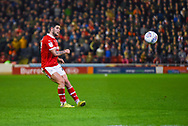 Alex Mowatt of Barnsley (27) passes the ball during the EFL Sky Bet League 1 match between Barnsley and Sunderland at Oakwell, Barnsley, England on 12 March 2019.