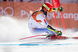 PYEONGCHANG-GUN, SOUTH KOREA - FEBRUARY 15: Mikaela Shiffrin of the United States competes during the Alpine Skiing Women's Giant Slalom at Yongpyong Alpine Centre on February 15, 2018 in Pyeongchang-gun, South Korea. Photo by Ronald Hoogendoorn / Sportida