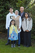 19th December 2020 - Ordered by Picture Desk<br /> Dr Abbas Al-Qafaji, Edge Avenue, Grimsby, who is hoping to get a private liver transplant.<br /> Pictured with his wife Farah (aged 42) and children left to right: Saif (aged 14), Dalal (aged 4) and Nawal (aged 11)