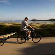 The boardwalk in Santa Barbara, California runs adjacent to the beach along Cabrillo Blvd and offers exercise, art and places to relax.