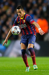 Barcelona Forward Alexis Sanchez (CHI) in action - Photo mandatory by-line: Rogan Thomson/JMP - Tel: 07966 386802 - 18/02/2014 - SPORT - FOOTBALL - Etihad Stadium, Manchester - Manchester City v Barcelona - UEFA Champions League, Round of 16, First leg.