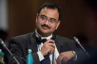 """28 MAY 2008, LEIPZIG/GERMANY: <br /> A. Ganguli, Society of Indiean Automobile Manufacturers, Workshop 4: """"Transport CO2 Emissions in Emerging Economies"""", International Transport Forum, ITF, Congress """"Transport and Energy - The Challenge of Climate Change"""", Congress Center Leipzig<br /> IMAGE: 20080528-01-348"""
