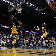 UNCASVILLE, CONNECTICUT- JUNE 5:   Shenise Johnson #42 of the Indiana Fever drives to the basket defended by Chiney Ogwumike #13 of the Connecticut Sun during the Indiana Fever Vs Connecticut Sun, WNBA regular season game at Mohegan Sun Arena on June 3, 2016 in Uncasville, Connecticut. (Photo by Tim Clayton/Corbis via Getty Images)