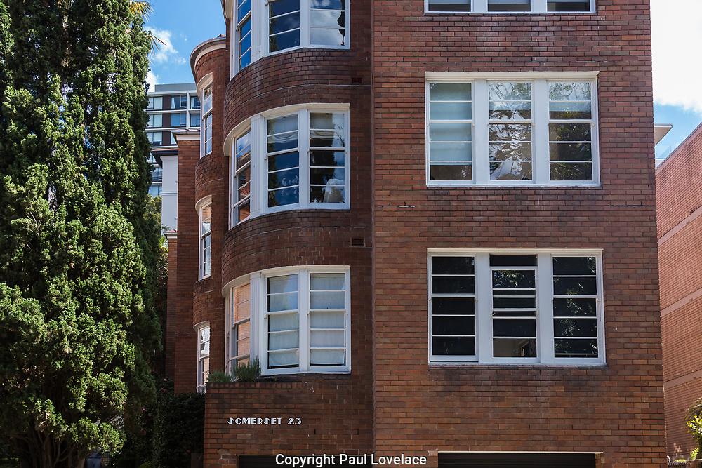 Sydney, Australia. Wednesday 16 September 2020. Art Deco Apartments and Residential Buildings, Elizabeth Bay, Sydney, Australia.