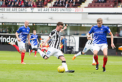 Dunfermline's Joe Cardle scoring their seventh goal. <br /> Dunfermline 7 v 1 Cowdenbeath, SPFL Ladbrokes League Division One game played 15/8/2015 at East End Park.