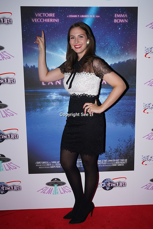 London, England, UK. 14th September 2017.Star Victoire Vecchierini attend the Landing Lake Film Premiere at Empire Haymarket,London, UK.