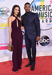 November 19, 2017 - Los Angeles, California, U.S. - Corrine Foxx and Jamie Foxx arrives for the 2017 American Music Awards at the Microsoft Theatre. (Credit Image: © Lisa O'Connor via ZUMA Wire)