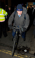 © Licensed to London News Pictures. 08/02/2016. London, UK. BORIS JOHNSON leaves The Brewery in London after the annual Conservative Party Black & White Ball, a Conservative Party fundraiser.  Photo credit: Ben Cawthra/LNP