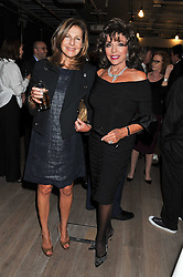 Left to right, JOYCE REUBEN and JOAN COLLINS at a party to celebrate the publication of her  autobiography - The World According to Joan, held at the British Film Institute, South Bank, London SE1 on 8th September 2011.