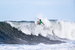 Lucas Silveira of Brazil advances to round three after placing first in round two heat 4 ​of the 2018 Hawaiian Pro at Haleiwa, Oahu, Hawaii, USA.