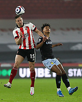 Sheffield United's Phil Jagielka vies for possession with Aston Villa's Ollie Watkins <br /> <br /> Photographer Alex Dodd/CameraSport<br /> <br /> The Premier League - Sheffield United v Aston Villa - Wednesday 3rd March 2021 - Bramall Lane - Sheffield<br /> <br /> World Copyright © 2021 CameraSport. All rights reserved. 43 Linden Ave. Countesthorpe. Leicester. England. LE8 5PG - Tel: +44 (0) 116 277 4147 - admin@camerasport.com - www.camerasport.com